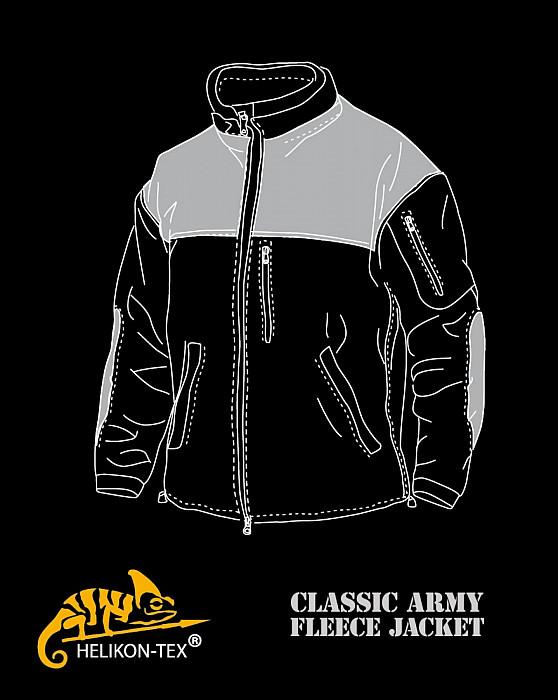 702b95d24672 Fleecová mikina CLASSIC ARMY Helikon - černá