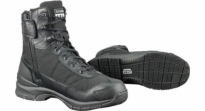 """3237ece107f Taktické boty H. A. W. K. 9"""" ORIGINAL S.W.A.T. se zipem - černé ..."""