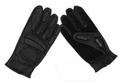 Kožené rukavice černé e156a62169